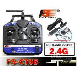 FlySky FS-CT6B 6CH 2.4GHz + R6B SPREJEMNIK