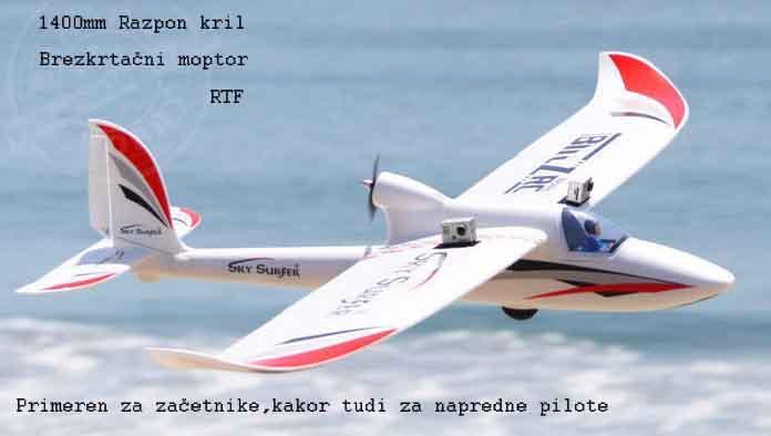 Letalo SKYSURFER 1400mm razpon kril  RTF