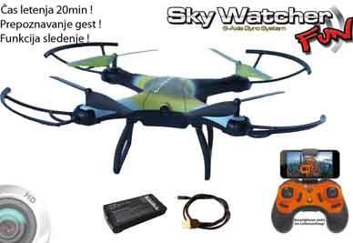 Skywacher fun-čas letenja 20min,prepoznavanje gest,funkcija sledenje....